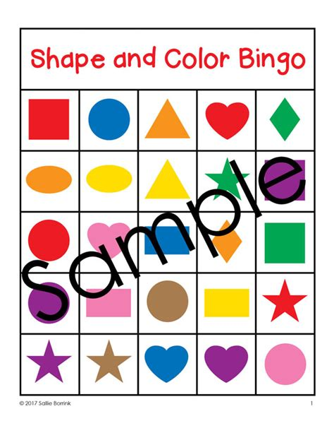 printable bingo cards with shapes shapes and colors bingo game cards 5x5 sallieborrink com