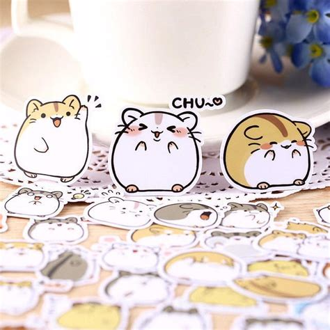 imagenes de hamsters kawaii 40 pcs kawaii japanese hamster stickers kawaii pen shop