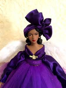 purple christmas angel tree topper african american
