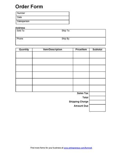sales forms sales order form doc doc projects to try