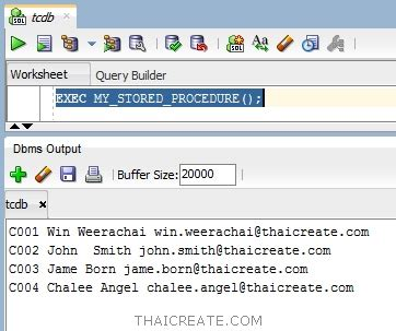 oracle tutorial cursor ตอนท 10 การใช cursor บน stored procedure oracle