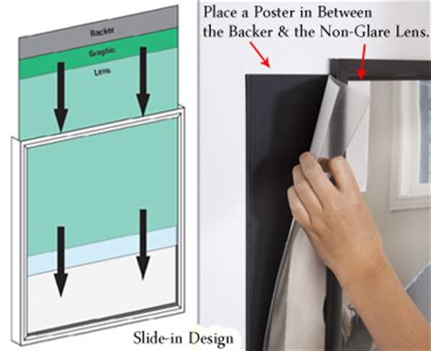 mounting posters without frames quick change poster frame 24 x 36