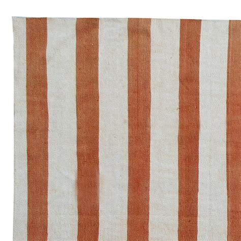 Striped Dhurrie Rugs by Vintage Dhurrie Rug With Stripes At 1stdibs