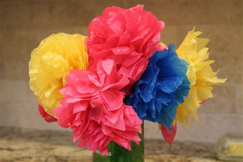 Make Flower From Tissue Paper - how to make colorful paper flowers for