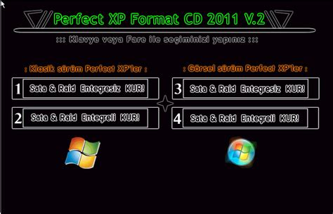 format cd indir windows 7 perfect xp format cd 2011 v 2 tek link indir