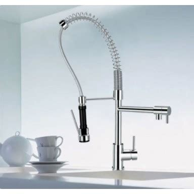 Designer Habitat Chrome Single Handle Pull Out Spray Kitchen Sink Tap Hose Mixer with Two Swivel