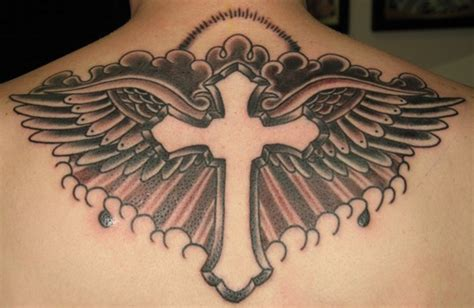 celtic cross with angel wings tattoo the meanings a cross with wings only tattoos