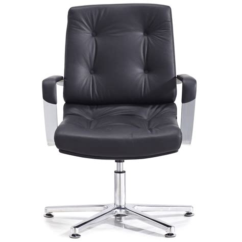 perot leather and chrome adjustable office chair with