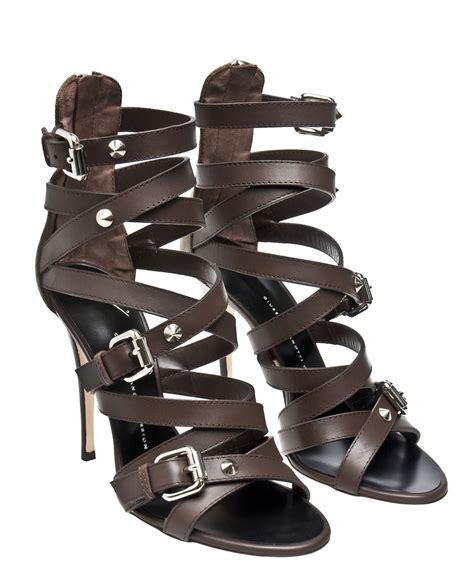 balmain sandals giuseppe zanotti x balmain multi band leather sandals in