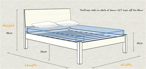 Height Of Bed Frame Kensington Bed Get Laid Beds