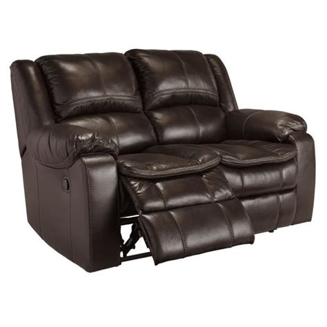 Faux Leather Reclining Sofa Faux Leather Power Reclining Loveseat In Brown 8890574