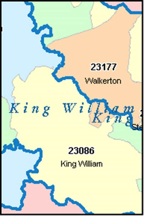 zip code map king county king william county virginia digital zip code map