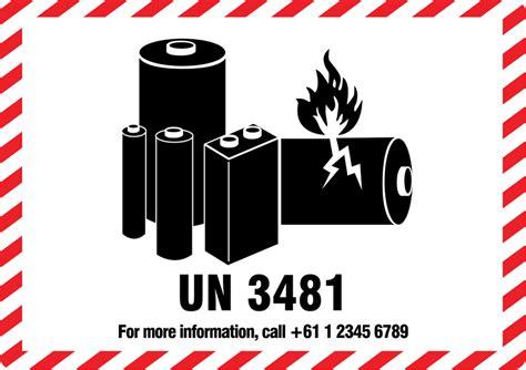 Guru Labels Packaging Lithium Battery Caution Labels Lithium Labels Lithium Ion Battery Label Template