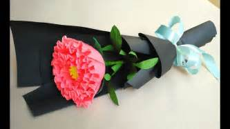 Paper Flower At Home - how to make paper flower bouquet at home easy peony