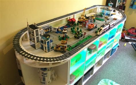 your own lego table with storage diy lego table with track and storage space for toys