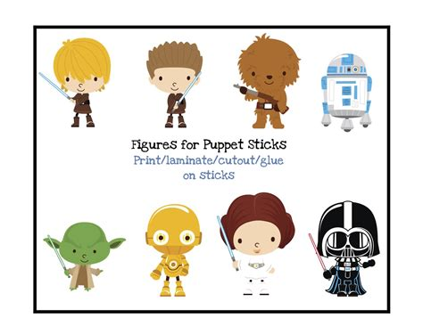 printable pictures star wars free star wars puppet sticks preschool printables