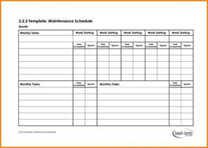 Maintenance Schedule 9 Schedule Of Services Template Resume Emails