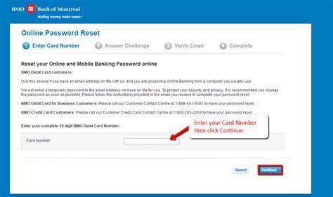 Reset Online Banking Password Bmo | bmo bank online banking login bmo com