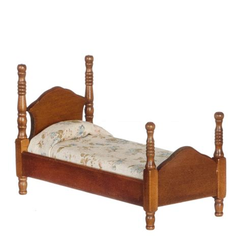 dollhouse twin bed twin bed walnut mary s dollhouse miniature furniture