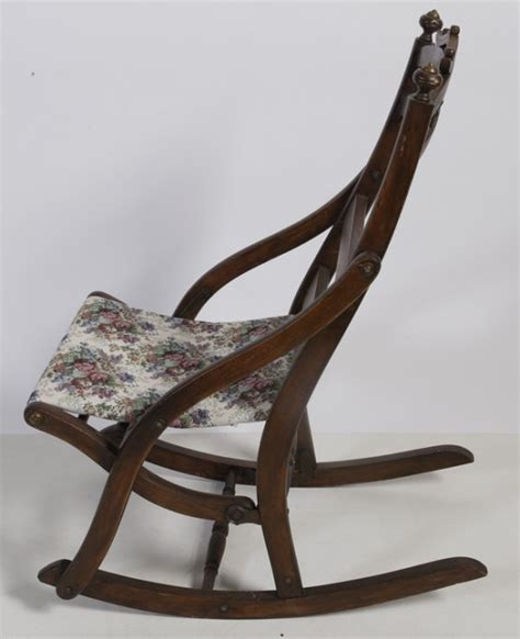 Antique Folding Rocking Chair by 365 Antique Folding Rocking Chair Lot 365