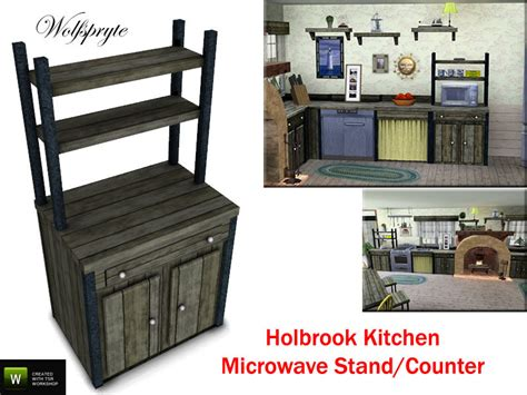 Microwave Stand For Kitchen by Wolfspryte S Holbrook Kitchen Microwave Stand And Cabinet