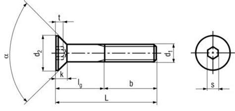 din 7991 iso 10642 flat countersunk socket cap
