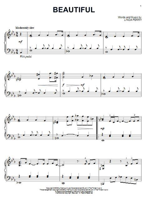 tutorial piano hurt christina aguilera beautiful sheet music by christina aguilera piano 54422