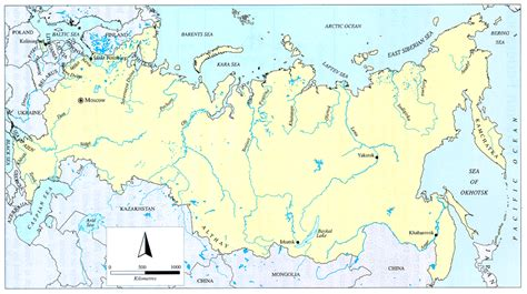 map of russia with cities rivers and mountains water report 15