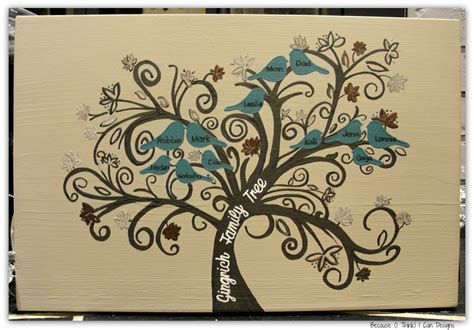 tree painted on wood ideas family tree painted wood sign because i think i can designs