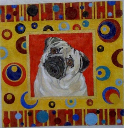 pug needlepoint for berryr handpainted pug needlepoint canvases pug etsy and canvases