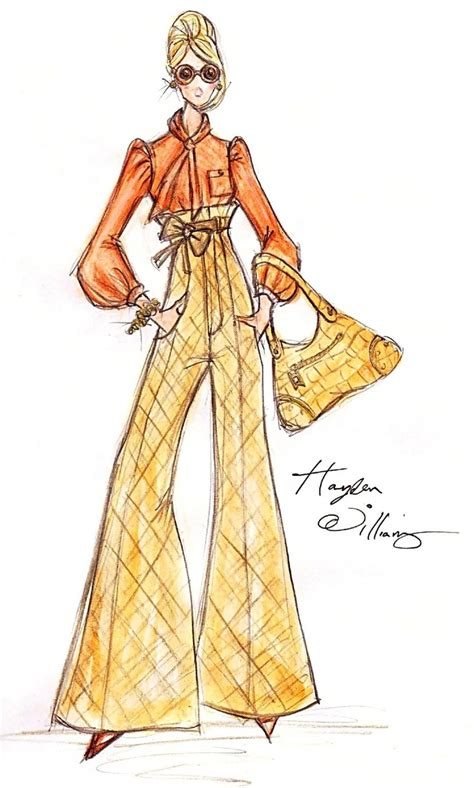 Fashion Sketches 70s 70 s style winter illustrations
