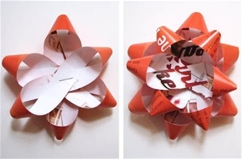 How To Make Ribbon Paper - make a gift bow from a magazine page how about orange