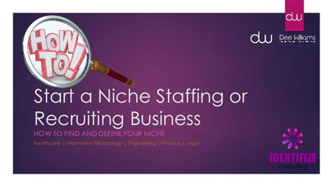 how to find niche business ideas your niche finder plan of how to start a niche staffing or recruiting business