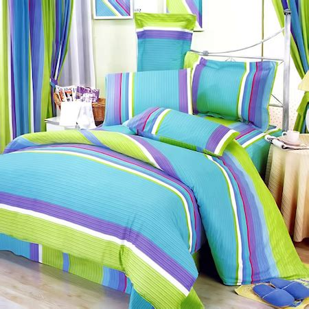 purple and lime green bedding lime green blue purple stripe teen girl sheet set twin