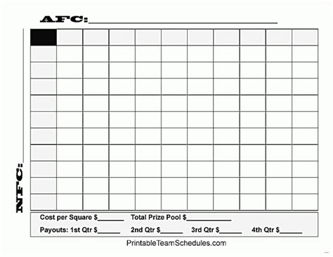 printable superbowl squares template bowl squares template excel templates collections