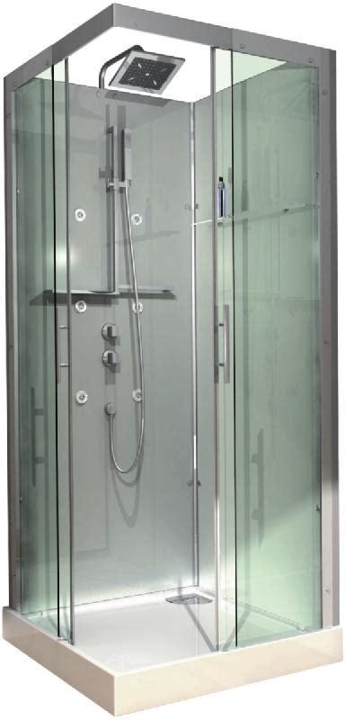 cabine doccia complete cabine domino complete carree 90x90 cm version hydro