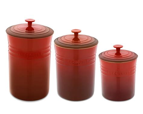 Stoneware Kitchen Canisters by Le Creuset Enameled Stoneware Canisters Williams Sonoma