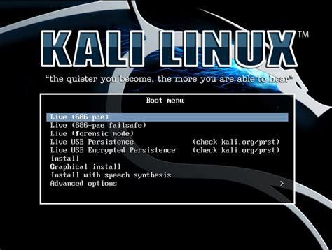 tutorial kali linux live usb cara install kali linux