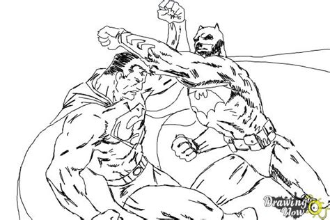 Batman V Superman Coloring Pages by How To Draw Batman Vs Superman Drawingnow