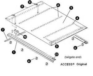truck bed cover parts access original replacement part truck bed cover parts