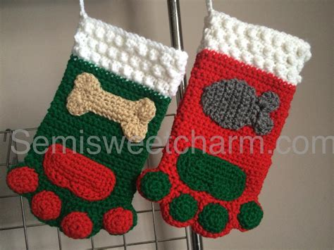 pattern for dog christmas stocking paw stocking pet christmas dog cat by semisweetcharm craftsy