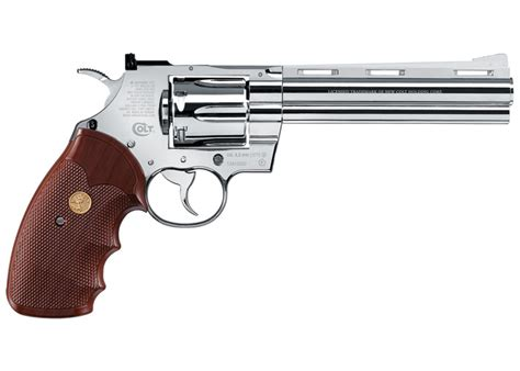 Revolfer Pyton colt python bb revolver chrome airgun depot
