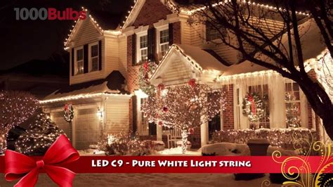 christmas lite co 819016 pure white led c9 christmas