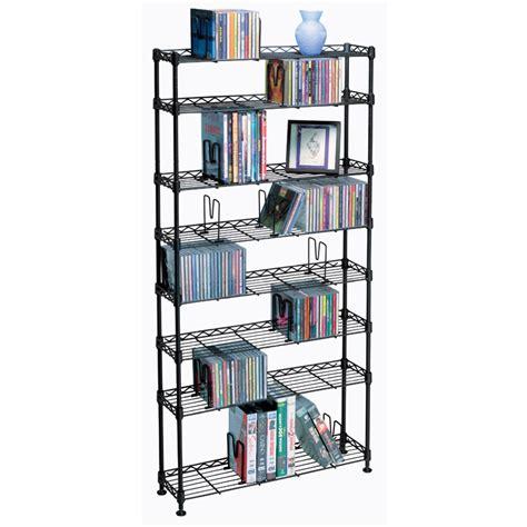 Multimedia Shelf by Atlantic Maxsteel Series 8 Shelf Multimedia Storage Rack