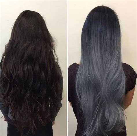 black grey hair black to dark grey ombre hair www pixshark com images