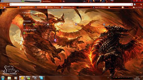 google themes dragon alexstrasza vs deathwing google chrome theme by sl4eva