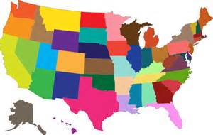 us map image clipart multicolored united states map