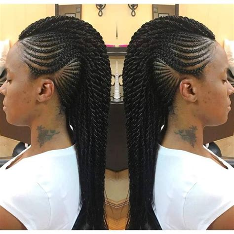 Mohawk Hairstyle For Black With Braids by Mohawk Braid Hairstyles Black Braided Mohawk Hairstyles
