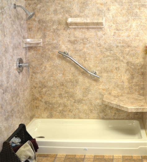 shower wall acrylic shower walls vs tile shower walls