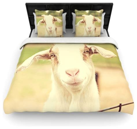 goat bedding angie turner quot happy goat quot smiling animal cotton duvet